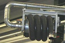 EXA-Schwenkausleger mit elekrischem Aufroller und Funkfernbedienung