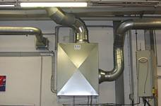 EXA-Ventilator eingebaut in einer Schalldämmbox