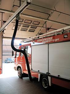 Abgas-Absauganlagen für Feuerwehrgerätehäuser ? Automatik-Systeme